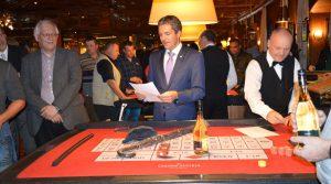 Das Showturnier im Casino für die Teilnehmer am Schachturnier