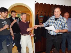 Siegerehrung Stadtmeisterschaft: Fritz Gatzke gewinnt Seniorenpreis