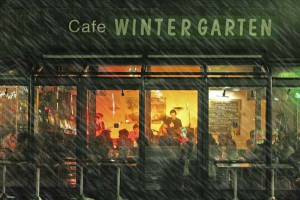 Wintergarten im Regen