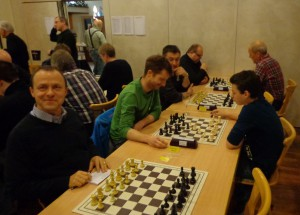 Jedesheim 1 (v. l. n. r.) Arnd Mayer, Hans-Michael Stiepan, Dimitrij Anistratov, Mark Heidenfeld