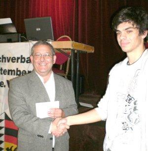 Jaroslaw bei der Siegerehrung WEM 2010 in Stuttgart