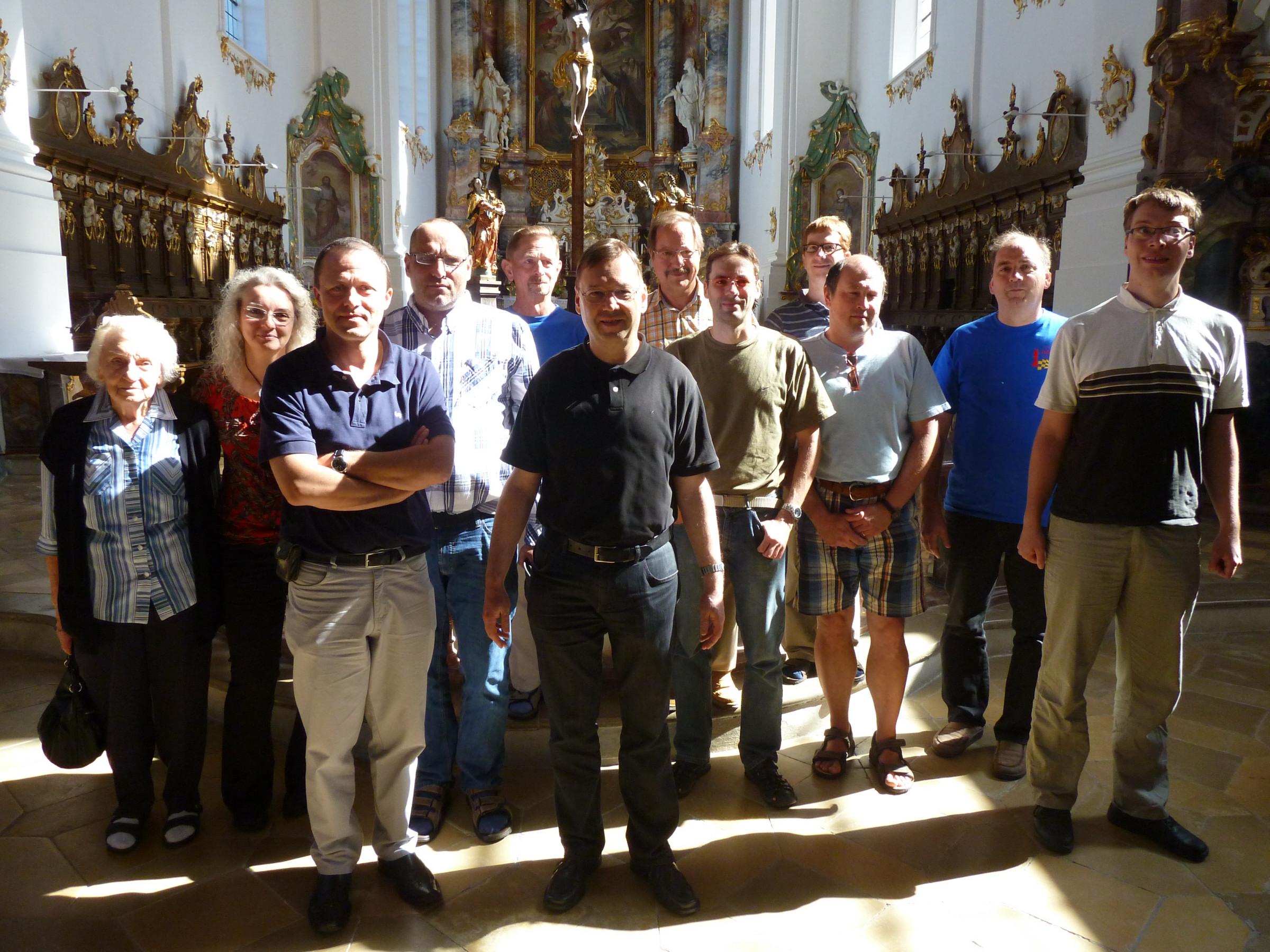 Gruppenbild im Kloster Roggenburg