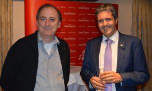 Eröffnung durch Turnierorganisator Bernhard Jehle (links) und Casino-Seefeld-Direktor Robert Frießer (rechts)
