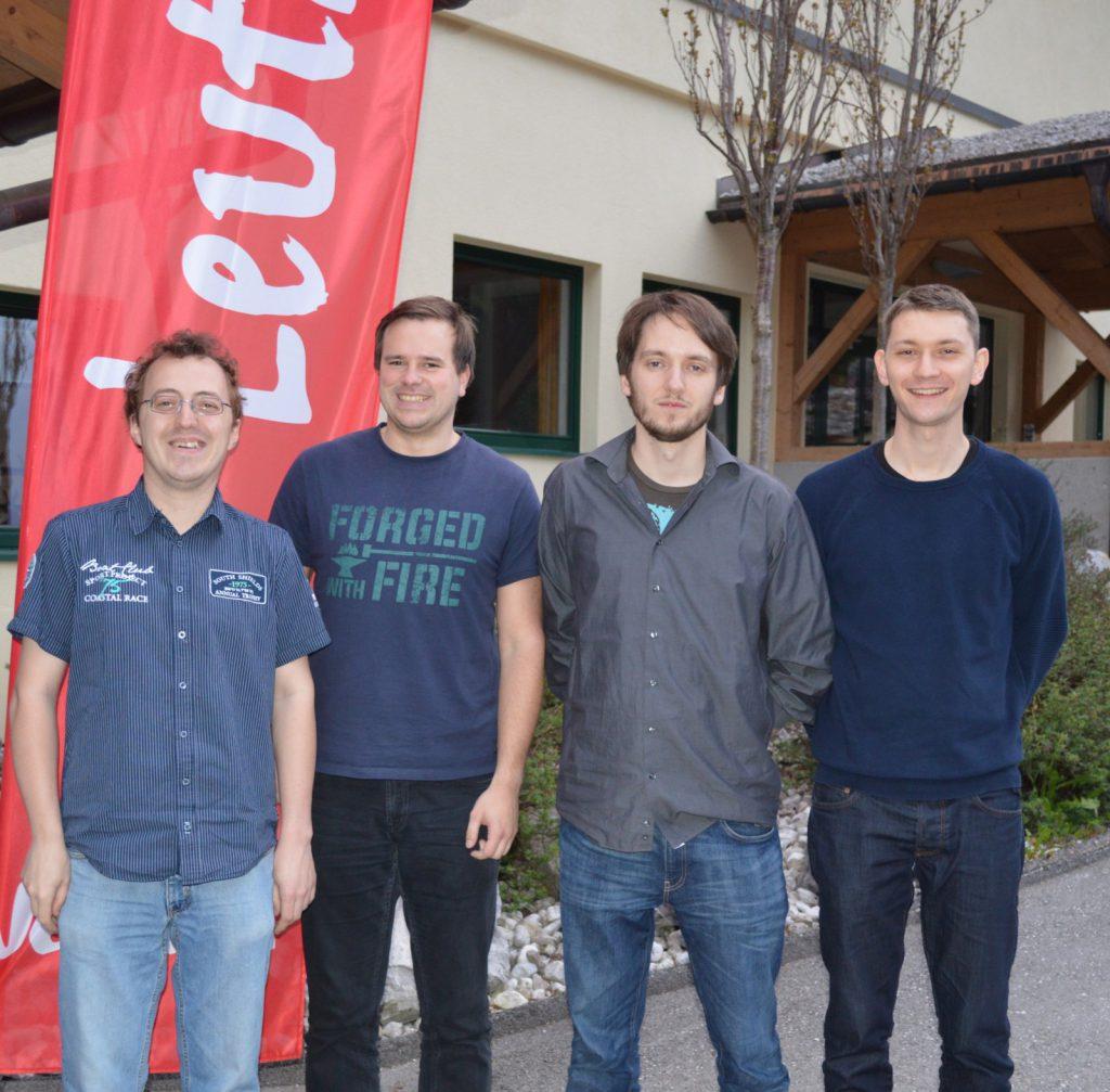 Sieger A-Finale: Team Doff Schnoff mit (von links nach rechts) Andreas Diermair, Marco Dietmayer-Kräutler, Peter Schreiner und Daniel Hartl