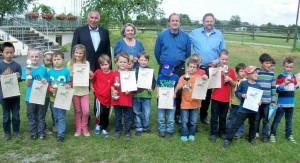 Siegerbild Baden-Württembergische U8-Meisterschaft 2013 in Illertissen