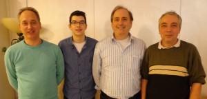 Jedesheim 2 (v. l. n. r): Markus Eichhorn, Patrick Bossinger, Bernhard Jehle, Manfred Grosse